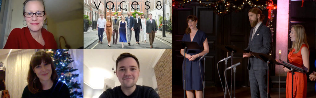 Photos of members of VOCES8
